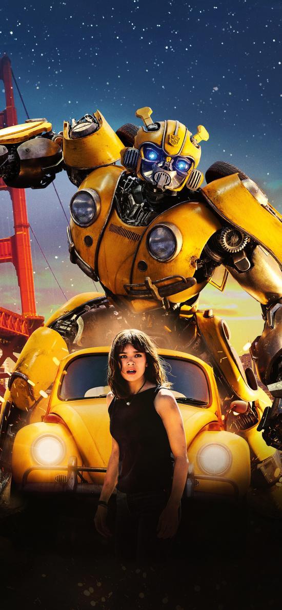 大黄蜂 机器人 电影 海报