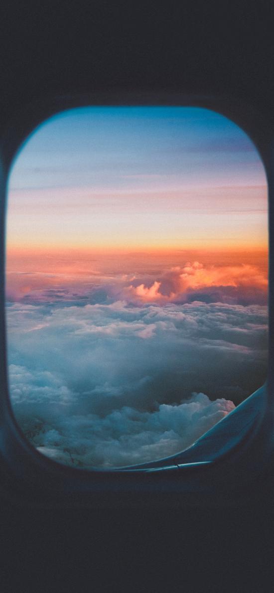 飞机 窗户 云空 云层