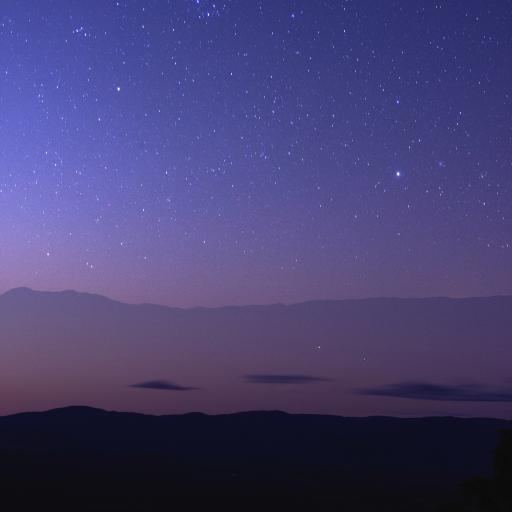 星空 唯美 夜晚 渐变