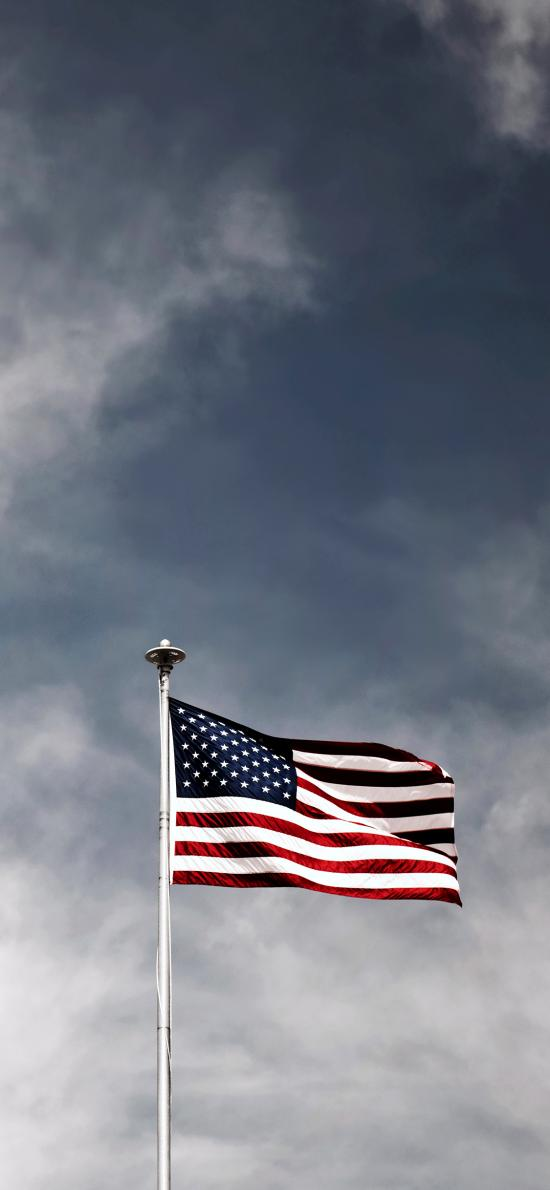 天空 国旗 旗帜 美国