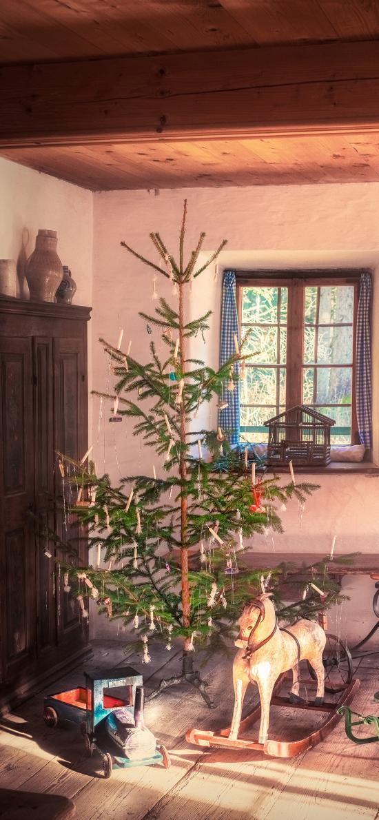 家居 圣诞树 木马 圣诞节