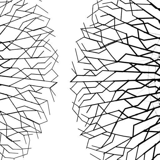 几何 黑白 树状分散