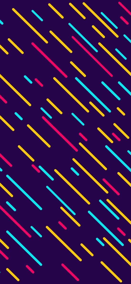 线 色彩 紫色 排列