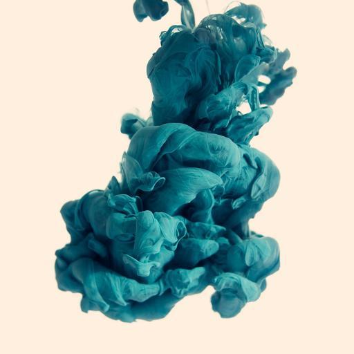 颜料 蓝色 融合 液体