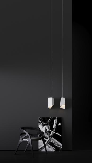 家居 设计 吊灯 椅子 黑白简约