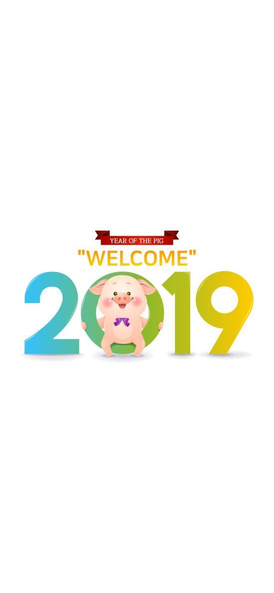 2019 猪年 新年 welcome