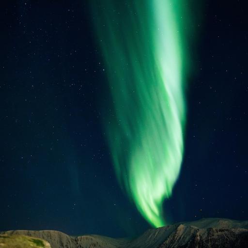 北极 天象 极光 绿色