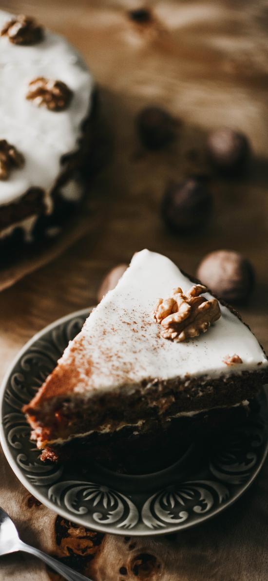 糕点 核桃 精致 蛋糕 甜品