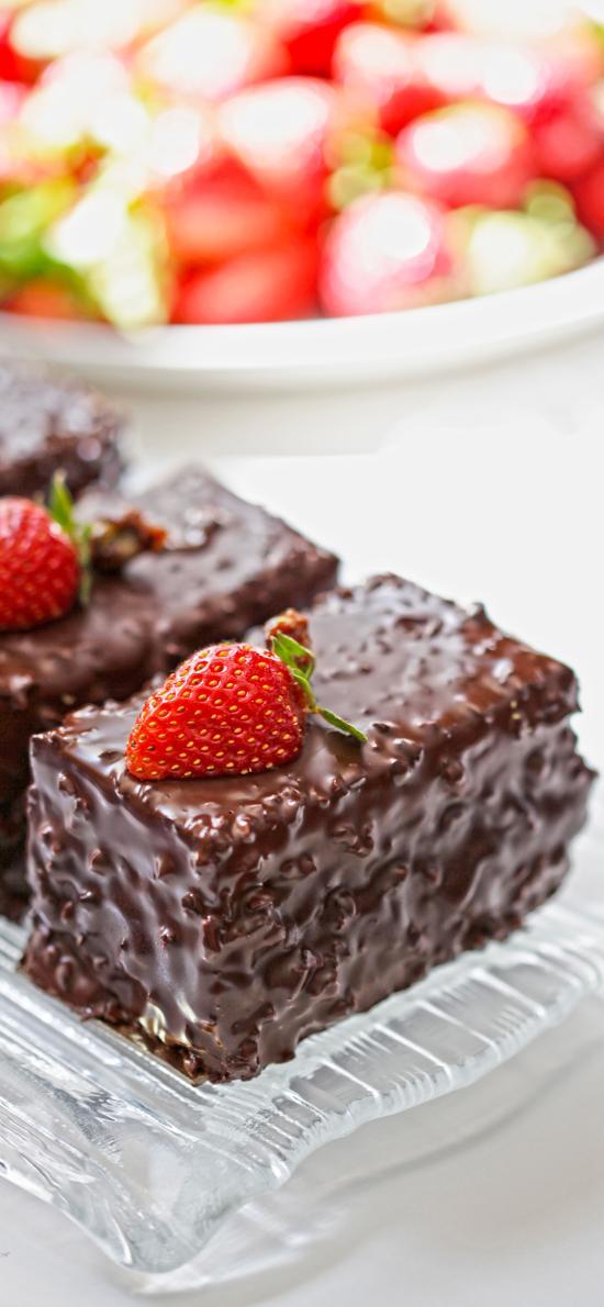 糕点 草莓 装饰 巧克力
