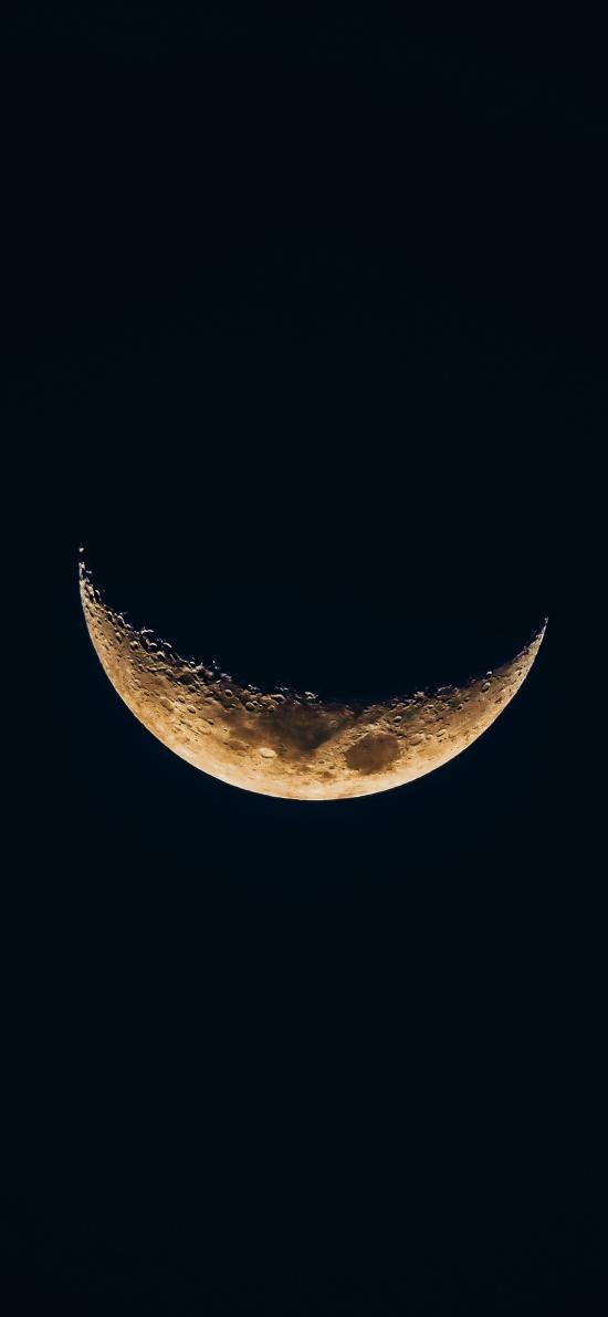 月亮 月球 弧形 黑色