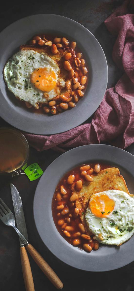 餐点 鸡蛋 面包 吐司 煎蛋
