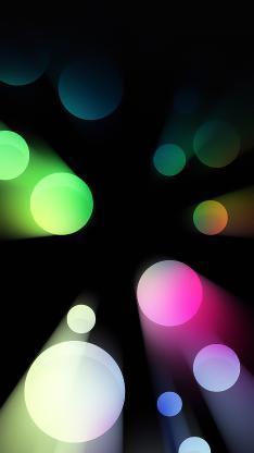 圆 几何 发光 色彩