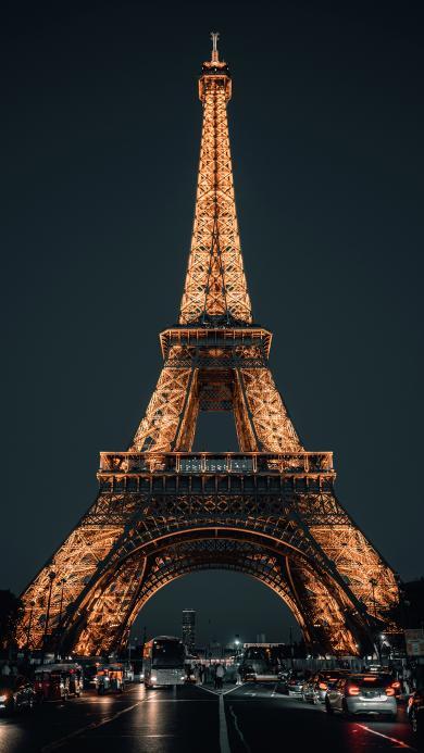 埃菲尔铁塔 地标 法国 夜晚