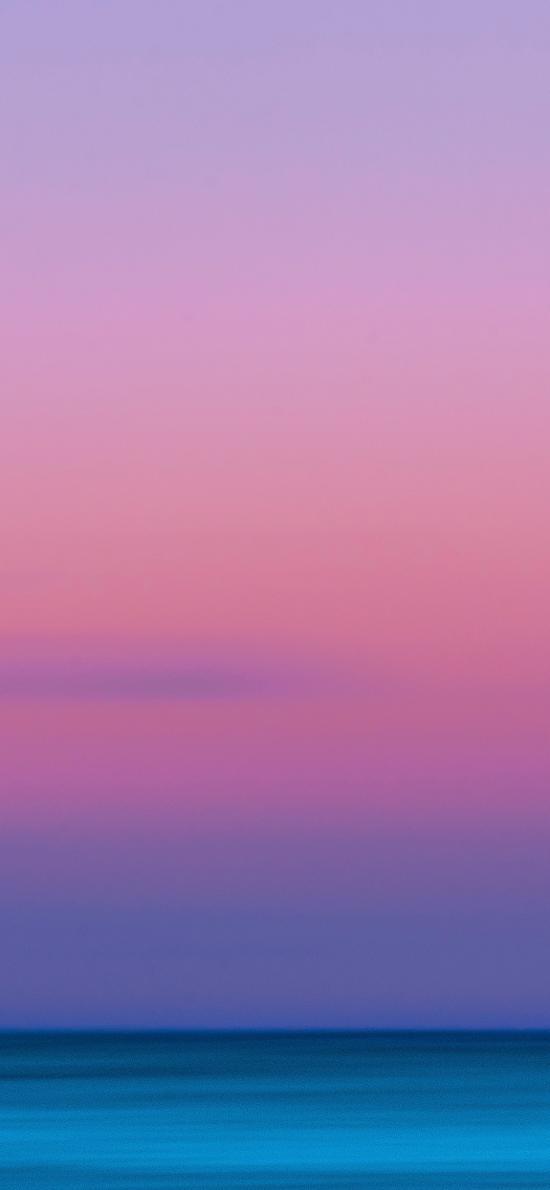 天空 渐变 黄昏 唯美