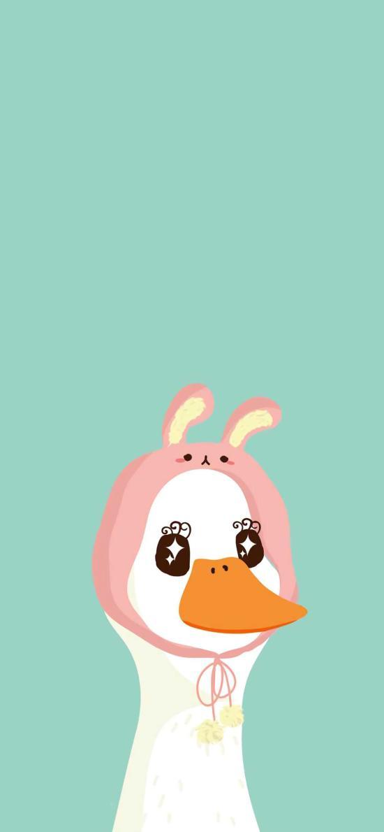 鸭子 卡通 可爱 萌 帽子