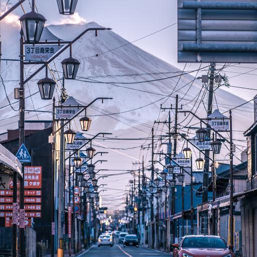 日本 街道 城市 富士山