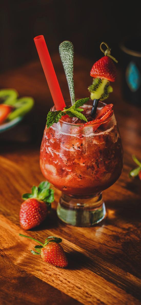 果汁 草莓汁 玻璃杯