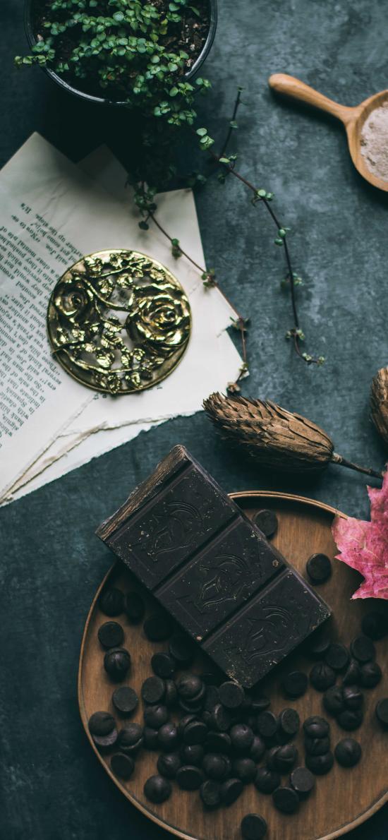 零食 巧克力 甜食 枫叶