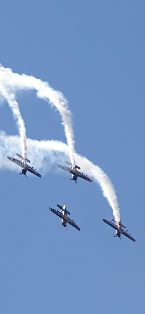 飞机 烟雾 航空 飞行