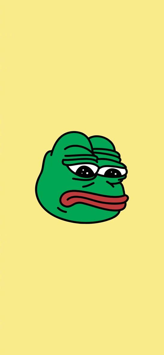 悲伤蛙 卡通 忧伤 失落 黄色