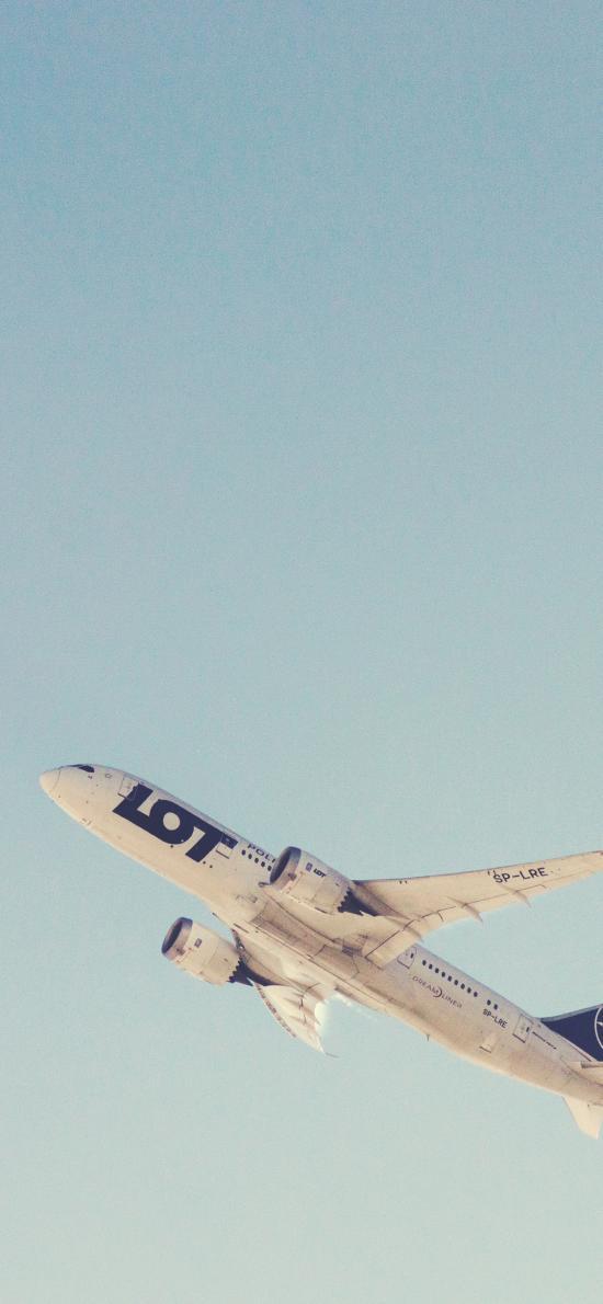 飞机 客机 起飞 天空 LOT
