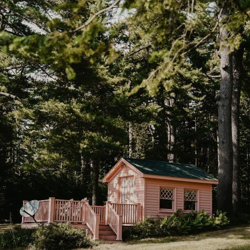 郊外 建筑 小木屋 居住 度假