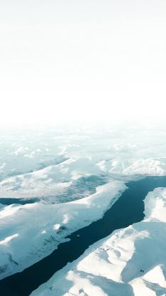 冰川 海洋 寒冷 大自然