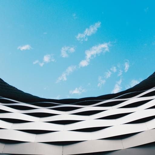 蓝天 白云 建筑 圆弧