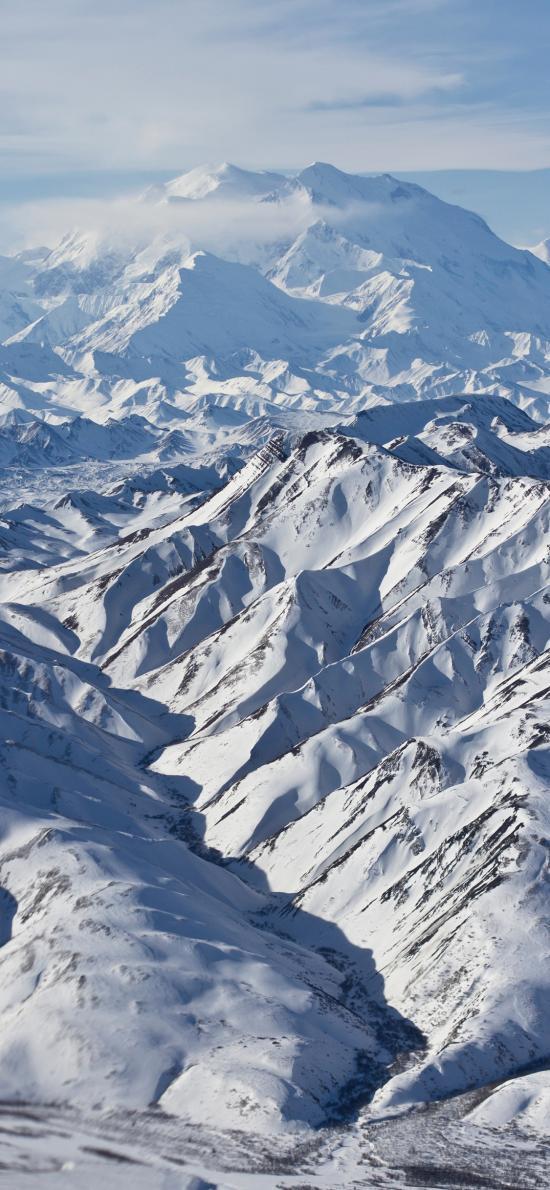 雪山 山脉 山峰 白色