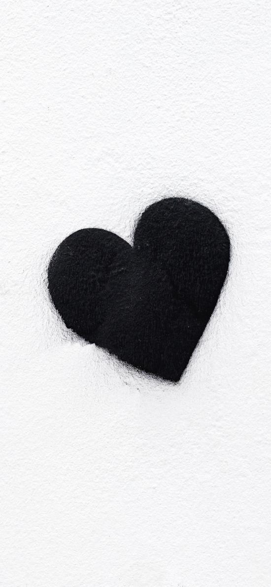 墙壁 黑色 爱心 情感