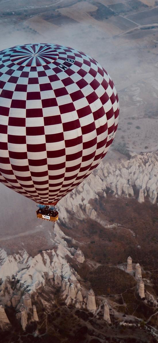 热气球 高空  景色 上升
