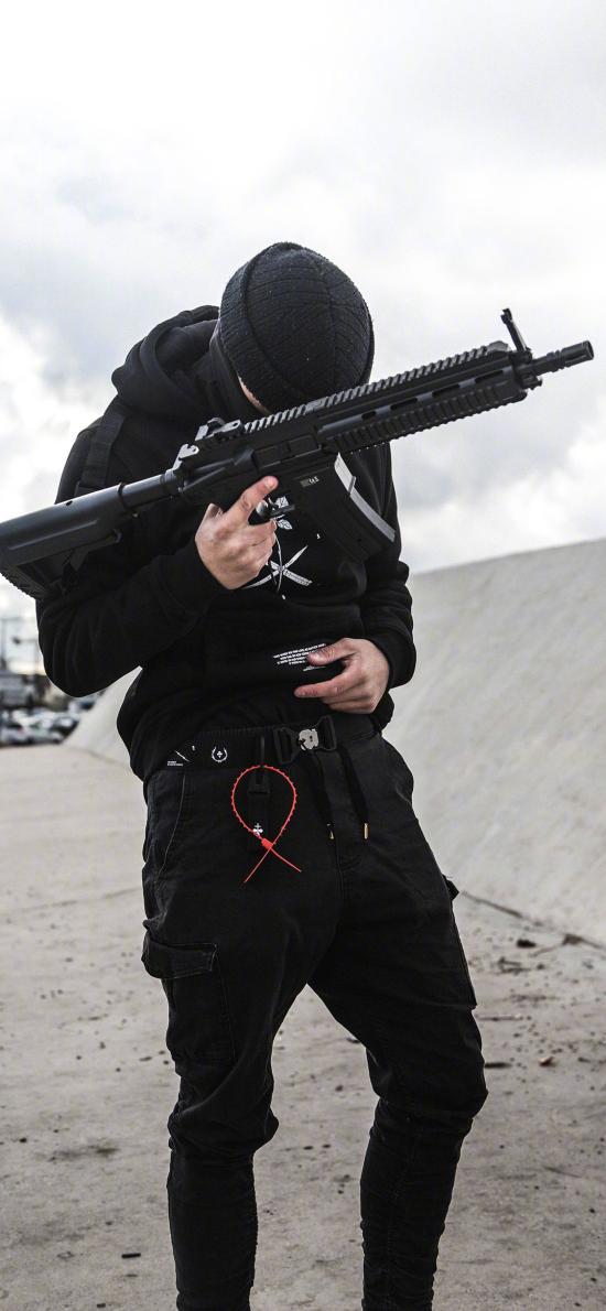 武器 男子 枪械 战斗