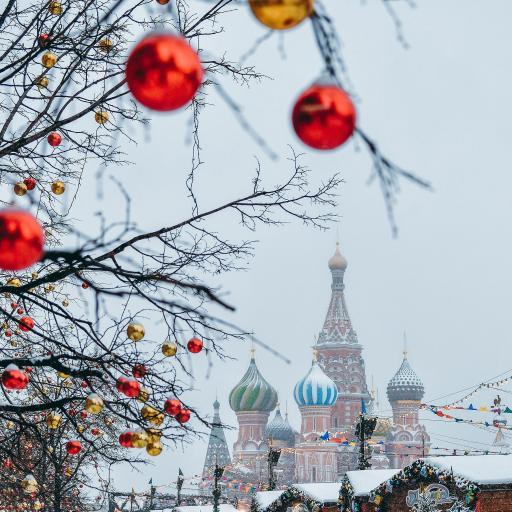 异国风情 建筑 雪地 冬季
