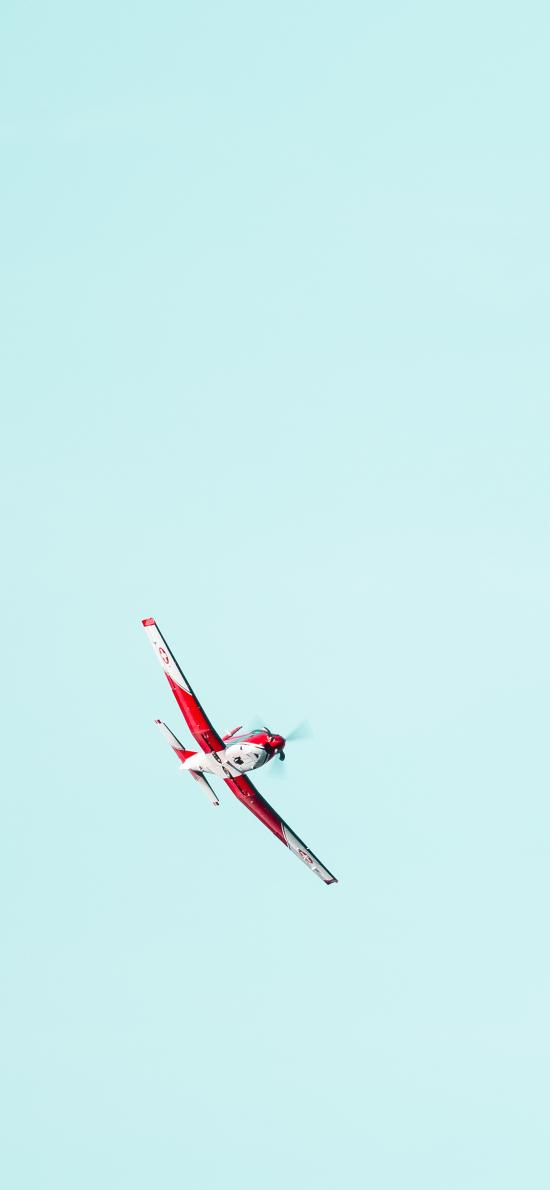 飞机 天空 螺旋桨 飞行
