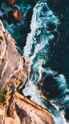 大海 海岸 浪花 海景