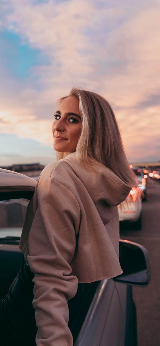 欧美 美女 写真 汽车