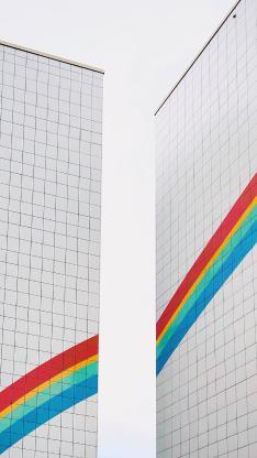 建筑 涂鸦 色彩 彩虹
