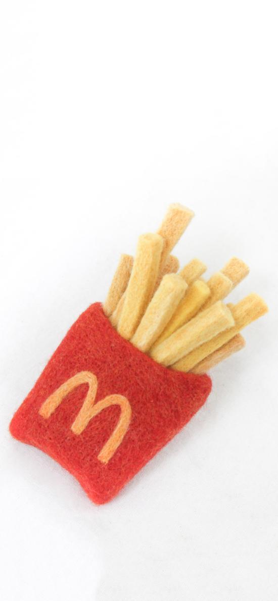 工艺品 DIY 毛毡 薯条 M记