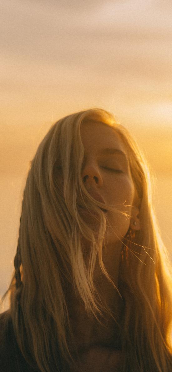 欧美 美女 写真 金发 阳光