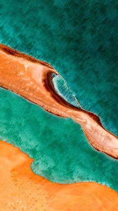 大海 海洋 海水 海岸 线条 航拍