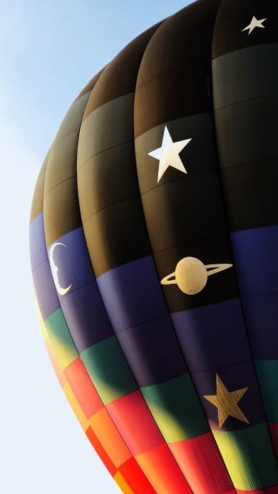 热气球 高空 上升 图案