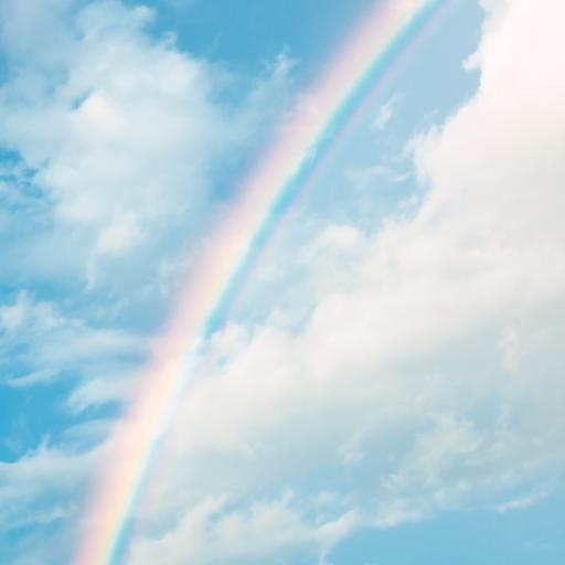 彩虹 天空 美丽 蓝色