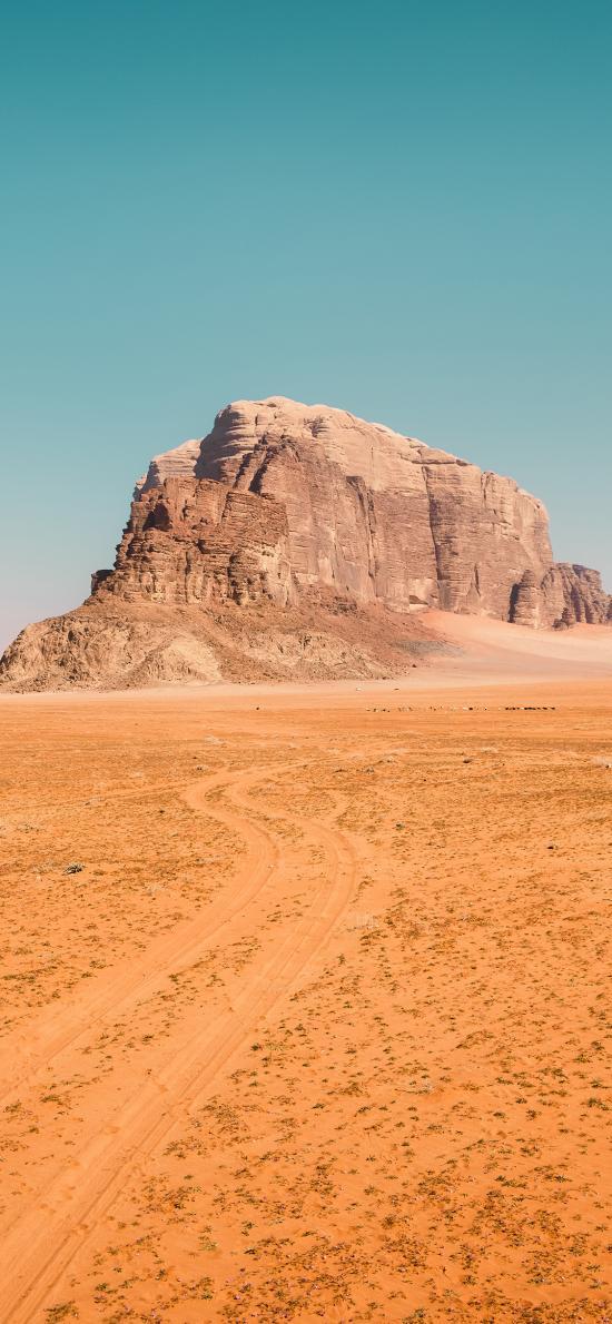 荒漠 天空 山体 沙漠 黄土