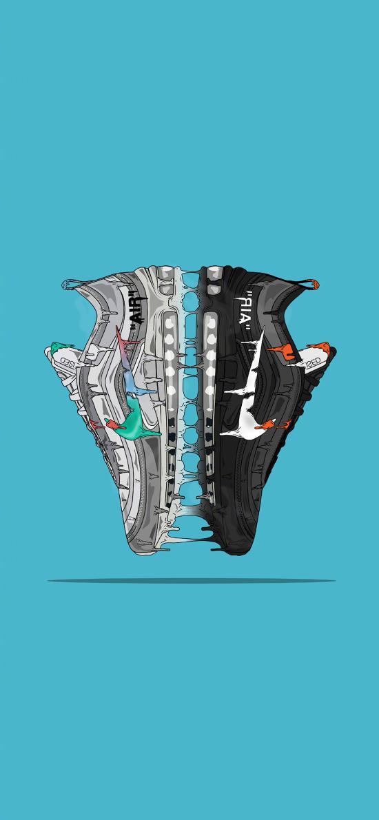耐克 球鞋  运动鞋 Nike 品牌 蓝色