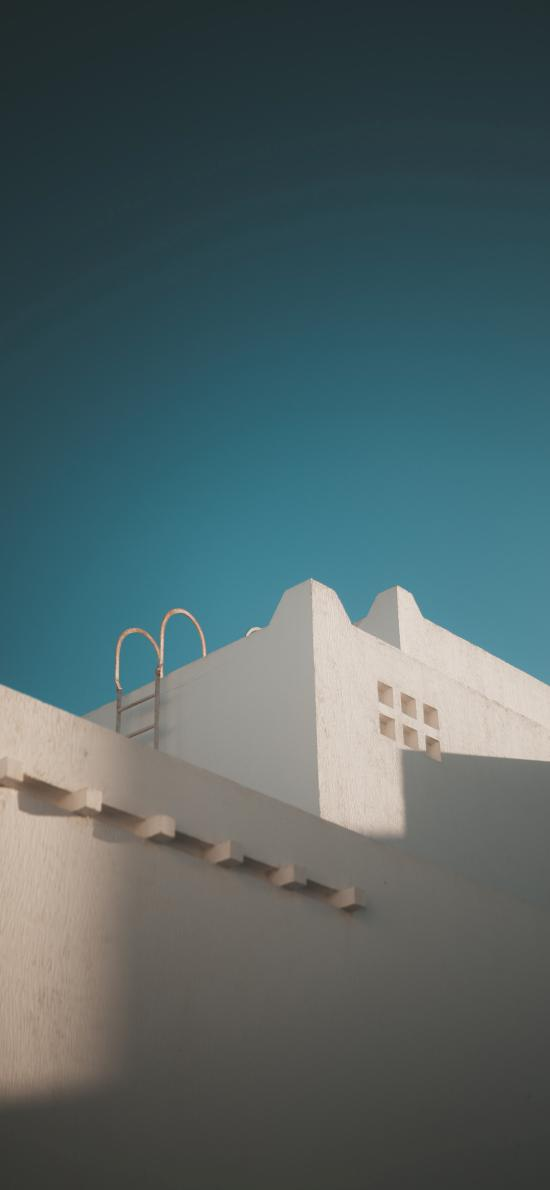 建筑 房屋 梯子 简约