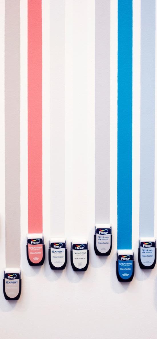 色彩 条状 颜料 排列