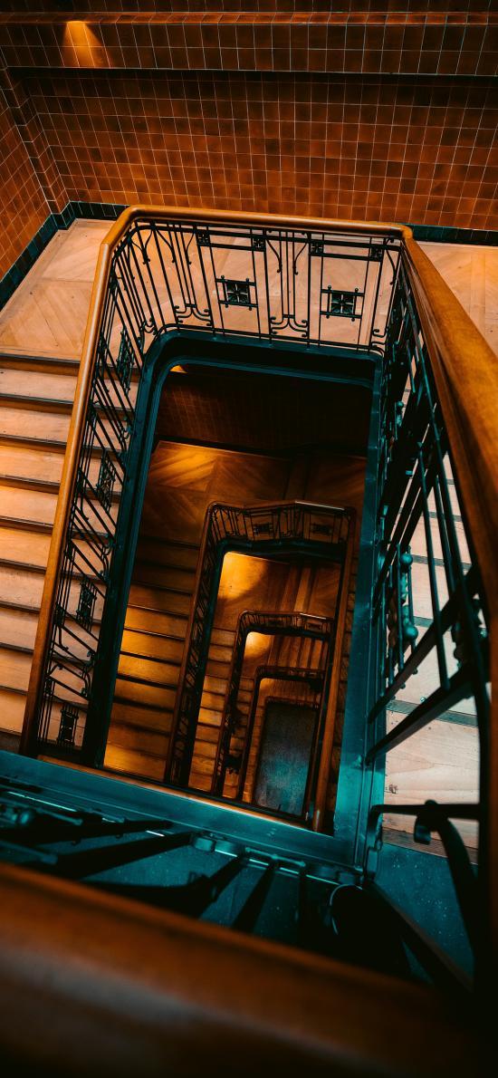 建筑 楼梯 围绕 室内