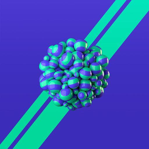 炫彩 色彩 球体 立体