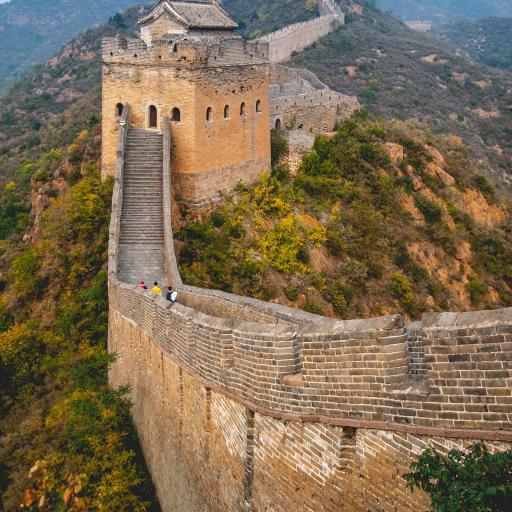 地标 景色 万里长城 北京 群山