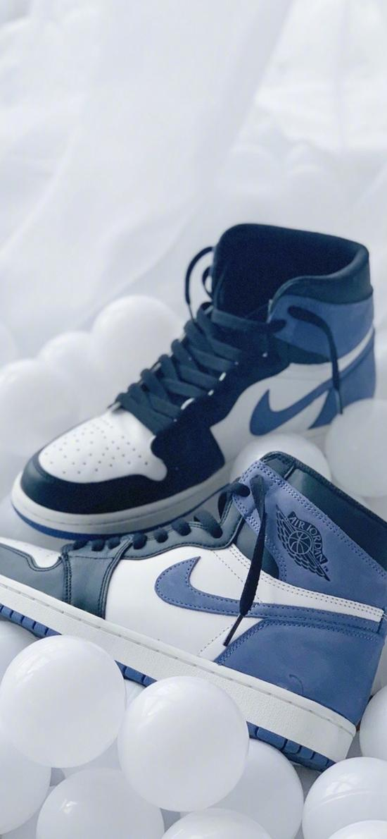 AJ 运动鞋 球鞋  蓝白 耐克
